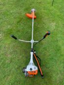 STIHL FS55 STRIMMER, BRAND NEW AND UNUSED, C/W MANUAL & GOGGLES *NO VAT*