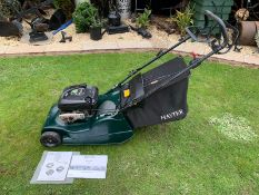 HAYTER HARRIER 48 AUTO DRIVE WITH ROLLER, RUNS, DRIVES CUTS, SELF PROPELLED, WITH ORIGINAL PAPERWORK