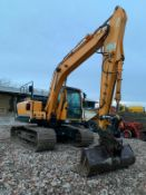 2014 HYUNDAI 140LC-9 EXCAVATOR, RUNS, DRIVES AND DIGS, CLEAN MACHINE, PIPED FOR FRONT ATTACHMENTS