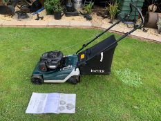 HAYTER 41 SPIRIT WITH ROLLER, PUSH MOWER, RUNS, DRIVES AND CUTS, WITH ORIGINAL PAPERWORK *NO VAT*
