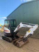 2015 BOBCAT E25 TRACKED CRAWLER EXCAVATOR / MINI DIGGER, RUNS, DRIVES AND DIGS, X3 BUCKETS *PLUS VAT