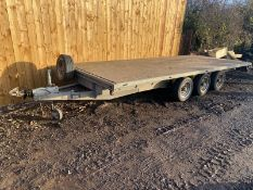 "Bateson Tri axle trailer Year: 2009 Gross weight 3500kg 16ft x 6ft 6"" *PLUS VAT*"