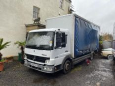 2005/55 REG MERCEDES CVS ATEGO 825 DAY CURTAIN SIDED LORRY, SHOWING 2 FORMER KEEPERS *PLUS VAT*