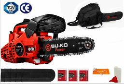 New BU-KO 26cc Lightweight 3.5KG - Top Handled Petrol Chainsaw inc. 3 new Chains And 10'' Bar