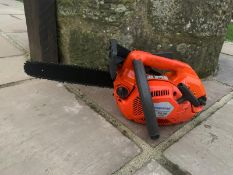 "HUSQUVARNA T435 TOP HANDLE CHAINSAW, RUNS AND WORKS, GOOD CONDITION, C/W 12"" BAR & CHAIN, 12"" COVER"