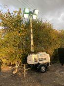 2013 VT1 LIGHTING TOWER, 10 KVA 240V, YEAR 2013, KUBOTA D1105 DIESEL ENGINE, 2981 HOURS *PLUS VAT*