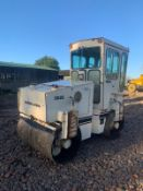 INGERSOLL RAND DD25 TWIN DRUM VIBRATING ROLLER, 1250MM DRUMS, GOOD MACHINE *PLUS VAT*