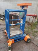 POWER TOWER PECO LIFT ACCESS TOWER SCISSOR LIFT PLATFORM, FULL WORKING ORDER, YEAR 2015 *PLUS VAT*