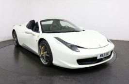 2013 Ferrari 458 spider white 25,000 miles full Ferrari service histroy 4.5 DCT 2dr auto 570bhp