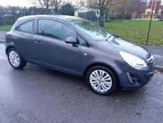 2013/13 REG VAUXHALL CORSA ENERGY AC 1.2 PETROL GREY 3 DOOR HATCHBACK, SHOWING 2 FORMER KEEPERS