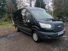 2017/67 REG FORD TRANSIT 350 2.0 DIESEL BLACK PANEL VAN, SHOWING 0 FORMER KEEPERS *PLUS VAT*