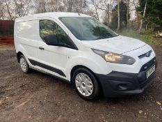 2015/64 REG FORD TRANSIT CONNECT 200 ECONETIC 1.6 DIESEL WHITE PANEL VAN, SHOWING 0 FORMER KEEPERS