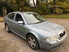 2003/03 REG SKODA OCTAVIA ELEGANCE TDI 1.9 DIESEL GREY 5 DOOR HATCHBACK, SHOWING 3 FORMER KEEPERS