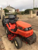 KUBOTA G18 RIDE ON LAWN MOWER, RUNS, DRIVES AND CUTS, HIGH TIP COLLECTOR, 1095 HOURS *NO VAT*
