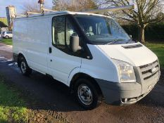 2009/58 REG FORD TRANSIT 85 T260M FWD 2.2 DIESEL WHITE PANEL VAN, SHOWING 0 FORMER KEEPERS