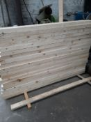 30 WOOD POSTS ALL NEW SIZE 2150 MM X 100MM X 75MM *NO VAT*
