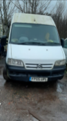 2005/05 REG CITROEN RELAY 1800 TD HDI LWB 2.2 DIESEL WHITE PANEL VAN, SHOWING 3 FORMER KEEPERS
