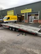 BRIAN JAMES TILT BED 3500 KG TRI-AXLE TRAILER, C/W RAMPS *PLUS VAT*