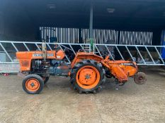 KUBOTA L1500 COMPACT TRACTOR WITH ROTAVATOR, RUNS, WORKS AND DRIVES, ONLY 1462 HOURS *NO VAT*