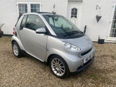 2008/08 REG SMART FORTWO PASSION 71 AUTO 999CC PETROL SILVER CONVERTIBLE, SHOWING 2 FORMER KEEPERS