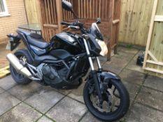 2014/64 REG HONDA NC750 SA-E 750CC BLACK MOTORCYCLE, SHOWING 1 FORMER KEEPER *NO VAT*