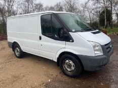 2011/11 REG FORD TRANSIT 115 T280S ECON FW 2.2 DIESEL WHITE PANEL VAN, SHOWING 0 FORMER KEEPERS