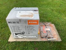 Stihl MS201TC Top Handle Saw, Runs works, ex demo condition, bought brand new this year - used twice