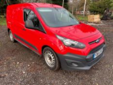 2014/64 REG FORD TRANSIT CONNECT 210 ECONETIC 1.6 DIESEL RED PANEL VAN, SHOWING 0 FORMER KEEPERS