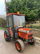 KUBOTA B2150 COMPACT TRACTOR, RUNS AND DRIVES, FULLY GLASS CAB, 275 HOURS *PLUS VAT*