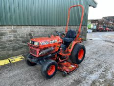 KUBOTA B1750 COMPACT WITH UNDERSLUNG DECK, RUNS, DRIVES AND CUTS, CLEAN MACHINE, CANOPY *PLUS VAT*