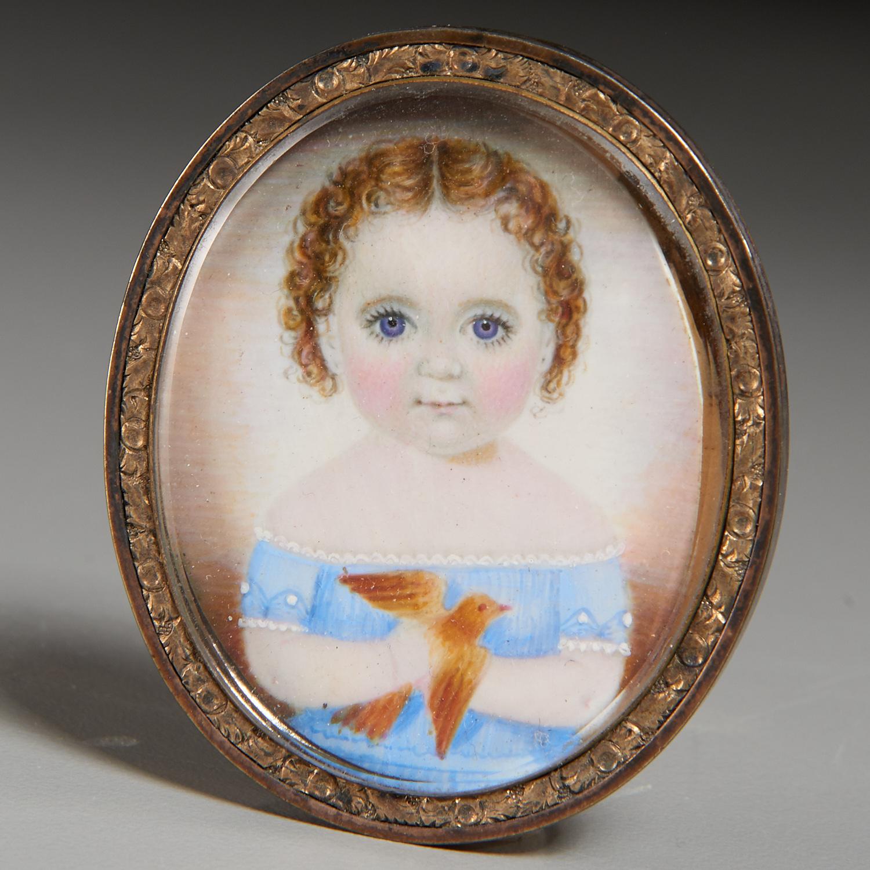 Lot 38 - Mrs. Moses Russell (attrib), Portrait Miniature