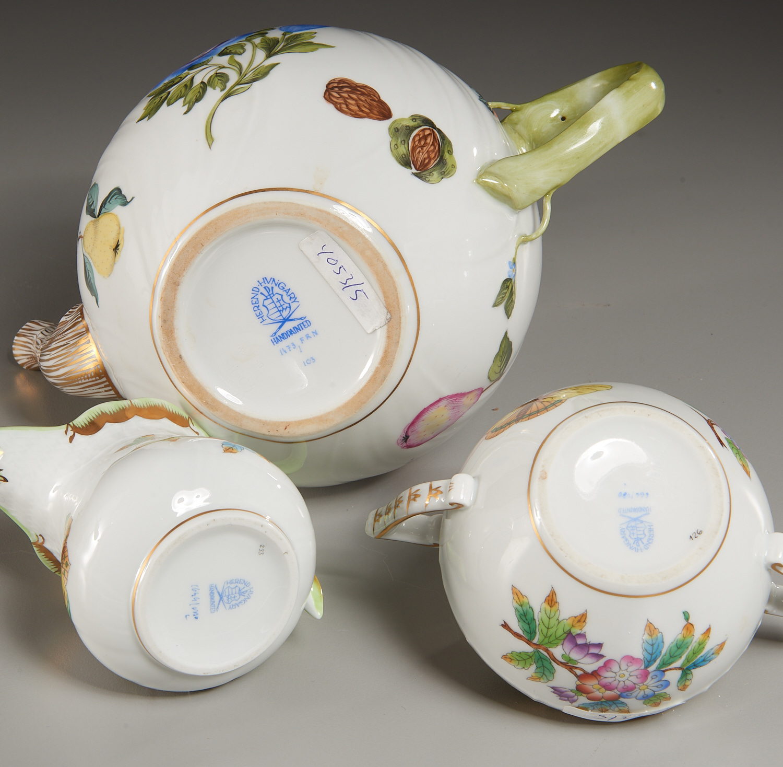 Lot 59 - Herend Porcelain (5) Piece Tea Service
