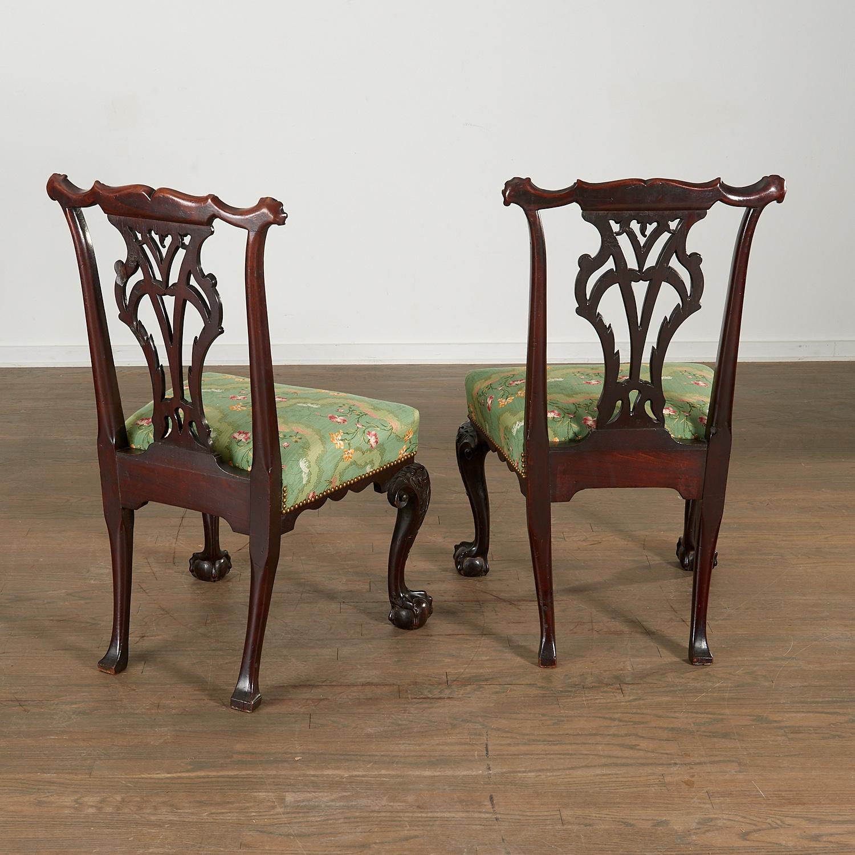 Lot 40 - Nice Pair George III Mahogany Side Chairs