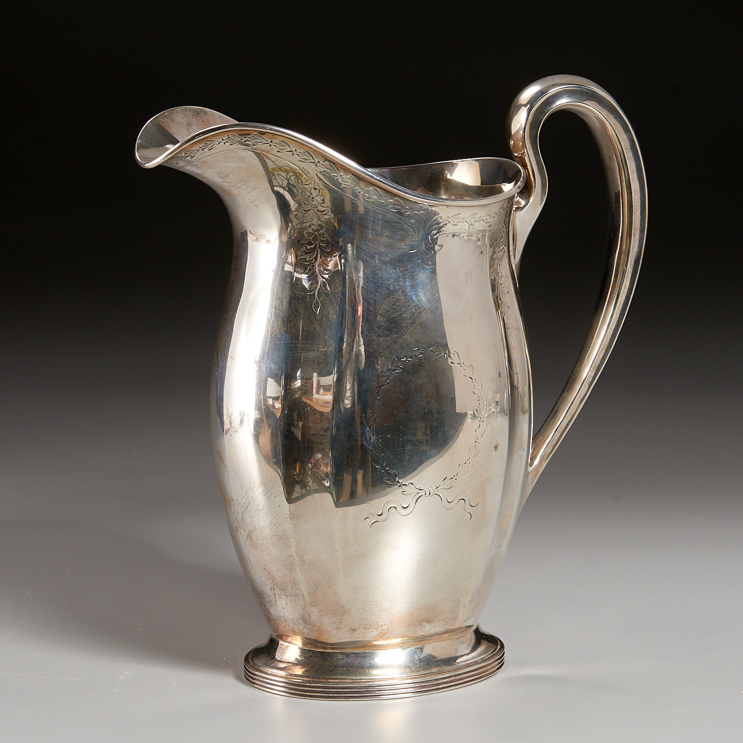 Lot 45 - American Sterling Silver Water Pitcher