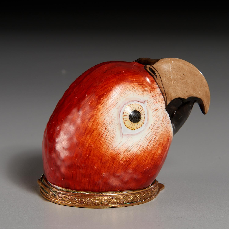 Lot 32 - Continental Porcelain Parrot-Form Bonbonniere