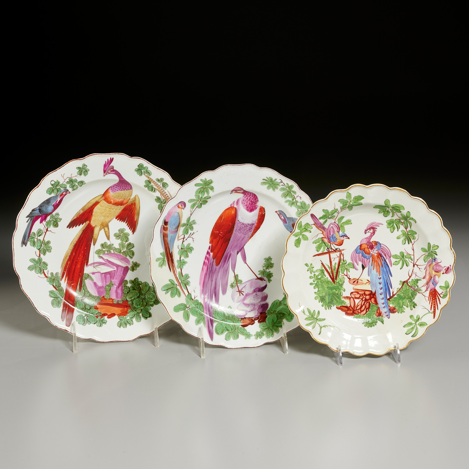 Lot 18 - (3) English Bow or Chelsea Porcelain Dishes