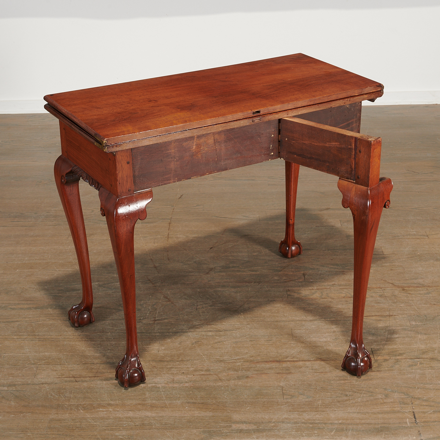 Lot 42 - American Chippendale Carved Walnut Card Table