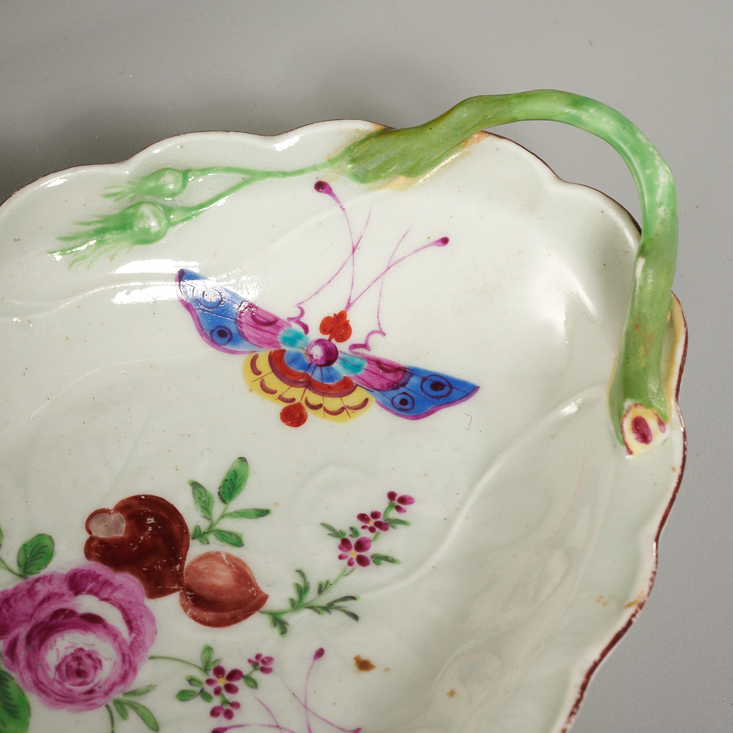Lot 36 - (3) Worcester Porcelain Sweetmeat Dishes