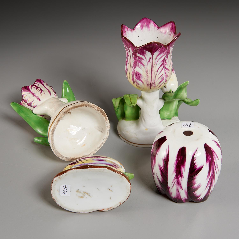 Lot 15 - (4) English Ceramic Tulip-Form Wares