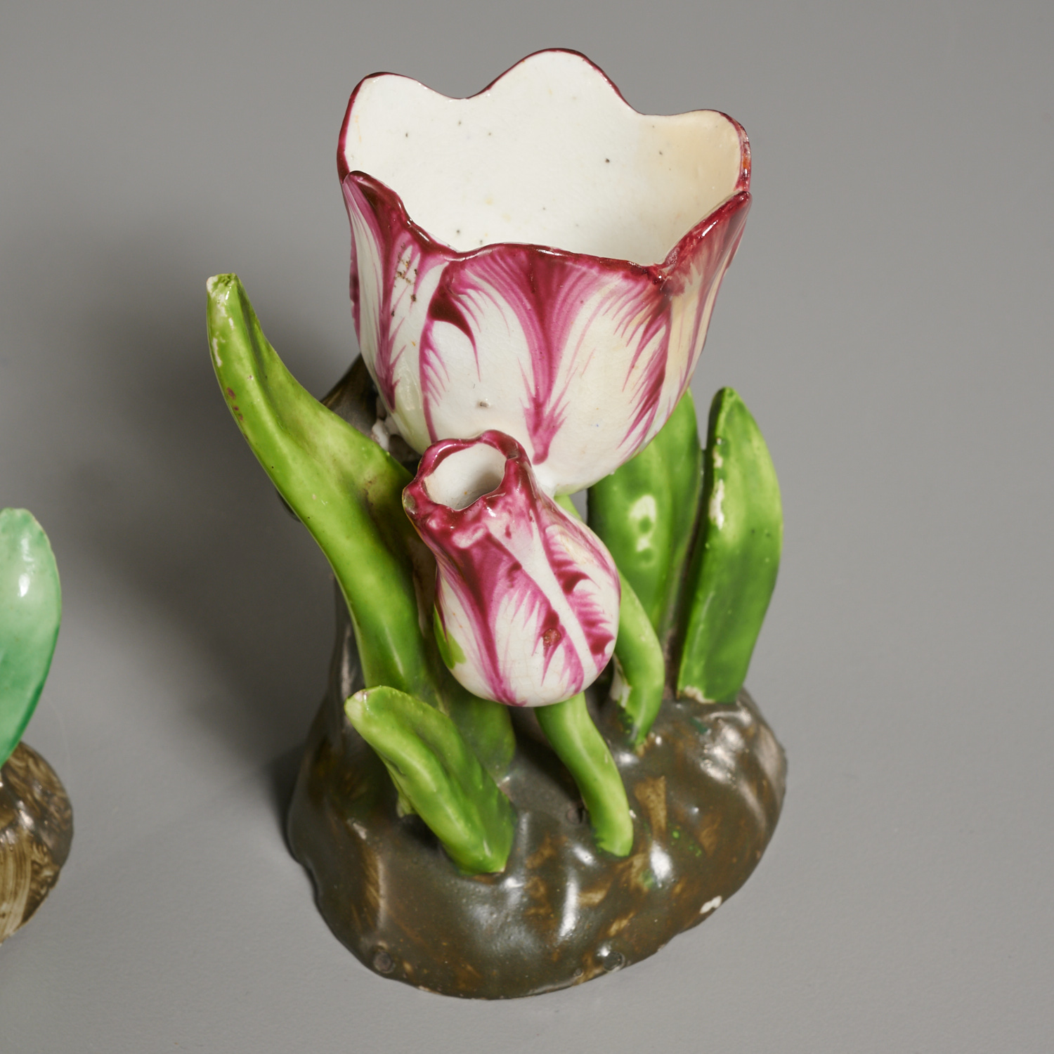 Lot 19 - (2) Pairs Small Staffordshire Tulip-Form Vases