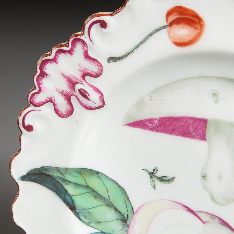 Lot 23 - (2) Chelsea Porcelain Botanical Wares