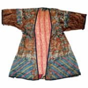 Antique Chinese Imperial style silk robe
