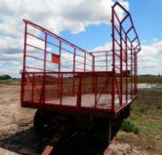 SCHUETTE 9x18' KICK BALE WAGON/Truck Tires (#2-5B)