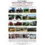 Dave's Equipment Annual Farm Equip. Consignment Auction  Tuesday, July 21, 2020 10:30 a.m. W757