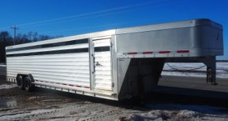 2012 FEATHERLITE MDL 8127 GN STOCK TRAILER