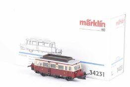 """Märklin 34231, 'Schweineschnäuzchen', Wismar-Schienenbus VT """"133 009"""" der DRG<b"""