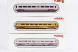 Märklin, 3 x 4171, drei ICE-Zwischenwagen<