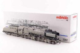 """Märklin 3302Märklin 3302, Borsig Mallet-Dampflok """"53 0002"""" der DRG, analog, grau, sehr gut erhalten,"""
