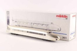 "Märklin 3477,Märklin 3477, Schienenzeppelin, silber-metallic, Sonderserie ""60 Jahre H0"", DELTA-"