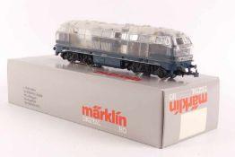 Märklin 3774Märklin 3774, defekte Diesellok ´216 127-1´der DB, transparenter Aufbau, digital,